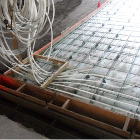 Heated flooring installation